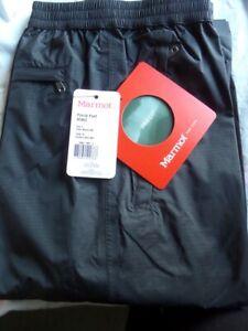 Men's Marmot precip XL Full side zip over-trousers Black