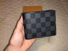 Louis Vuitton Mens Multiple Damier Graphite Canvas Wallet Bifold Card Authentic