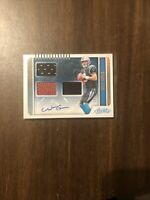 Will Grier Carolina Panthers 2019 Absolute Triple Relic Autograph RC # 143/149