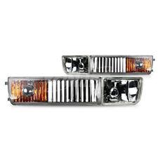 For 1993-1998 Volkswagen Golf Jetta Clear Lens Chrome Housing Fog Lights Lamp