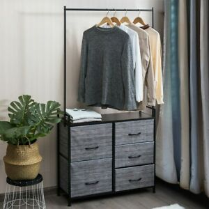 Chest of Drawers with Hanging Rail