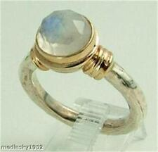 Hadar Designers  9k Yellow Gold Sterling Silver Moonstone Ring 6,7,8,9,10 (r104