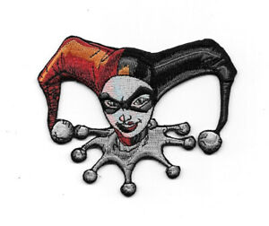 Batman, Harley Quinn Face Head Embroidered Die Cut Patch, NEW UNUSED