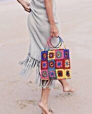 ZARA  🌈 CROCHET BEACH BASKET BAG REF.2571/007