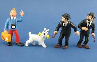 Bully - Tim und Struppi + Schulze + Schultze - 4x TINTIN Comic-Figuren - 1975