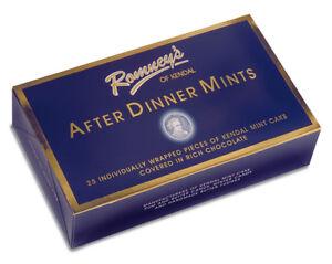 Kendal Mint Cake Romney's Kendal Mintcake After Dinner MInts  Box  275g