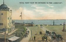 LOWESTOFT( Suffolk) : Royal Yacht Club and Entrance to Pier