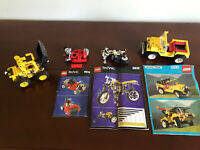 Lot of 4 LEGO Technic Model Team Vehicle Sets Vintage Incomplete W/ Manuals