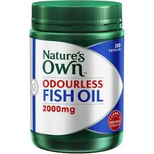 Natures Own ODOURLESS FISH OIL 2000MG 200 capsules high strength >> HOT DEAL!!