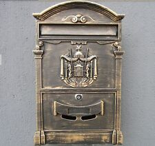 New Rustic Retro Mailbox Letterbox Household Garden Vintage Look Post Box Diy