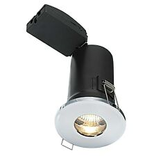 Saxby Shieldplus MV Bathroom Recessed Fixed Light IP65 50W GU10 Reflector