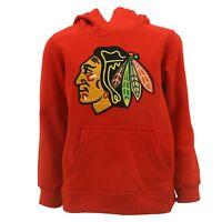 Chicago Blackhawks Kids Youth Size Hooded Sweatshirt Reebok Official NHL New