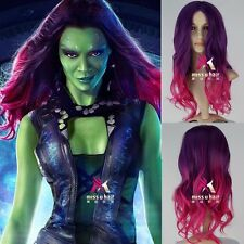 Guardians of the Galaxy Gamora Gradient Hair Synthetic Long Wavy Cosplay Wig