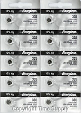 10 pcs 335 Energizer Watch Batteries SR512SW 512SW 0% HG
