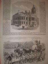 New townhall Stratford Essex & Philanthropic Society Farm School Redhill 1869