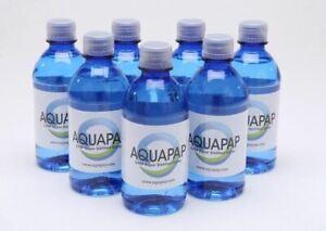 Aquapap CPAP Water Vapor Distilled 7x12 Oz. Bottles New 7-Pack Sleep Apnea