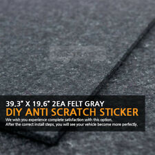 39.3?X 19.6?Felt Gray DIY Anti Scratch Sticker 2EA for HYUNDAI KIA Vehicles