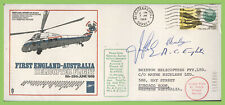 G.B. 1969 Longest Flight by Rotary Winged Aircraft, flown multi signed cover, SC