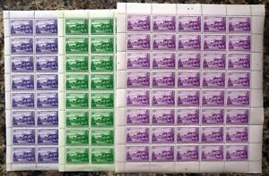NORFOLK ISLAND 1947 - 1d, 1½d & 2d Complete Sheets of 40 Cat £62+ DH439