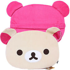 "San X Rilakkuma Face Chair Cushion with Holding Elastic Band 18"" Licensed"