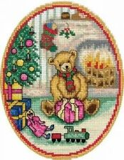Christmas Teddy Counted Cross Stitch Kit  - Anchor
