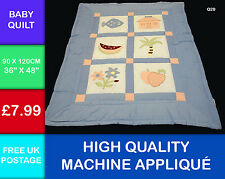 New Embroidery Childs Patchwork Applique Quilt Baby Wall Hanging