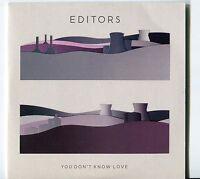 Editors   CD-SINGLE ( PROMO)   YOU DON'T KNOW LOVE ( 4 TRACKS)