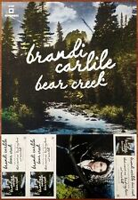 BRANDI CARLILE Bear Creek Ltd Ed Discontinued RARE Poster+FREE Indie Rock Poster
