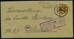 GERMANY 1948 24Pf. WITH POST HORN OVPT. INVERTED TIED