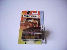 MATCHBOX  2007 ROUTEMASTER BUS #53 GOLD CITY ACTION 9/12 M5338