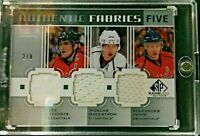 11-12 SP Game Used Authentic Fabrics Five Washington Capitals 2/8 w/COA