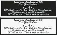 Aaron Judge Autograph Nameplate New York Yankees Photo Bat Hat Jersey Baseball