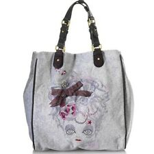 Juicy Couture Doll Face Tote Bag Large Shopper In Grey *Stunning*