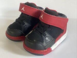 Nike Air Jordan Flight Origin Toddler 602670-002 BLACK RED  Size 4 C SNEAKER