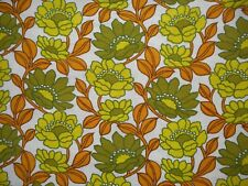 Lovely unused vintage retro 60's Duro floral barkcloth fabric - 1M lengths,