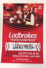 Snooker ladbrokes world grand prix flyer 2017. signé par alan mcmanus.