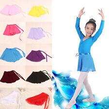 Toddler Kids Girls Gymnastics Ballet Dance Skate Wrap Scarf Leotard Tutu Skirt