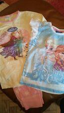 Filles 2 X Pyjamas 100% coton 5 -6 et T shirt 4-5 ans Disney's Frozen & Stars
