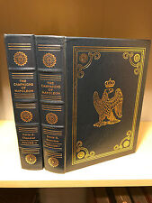 Easton Press Campaigns of Napoleon by David Chandler 2 vol  Military Library