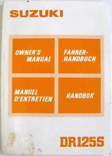 SUZUKI DS125S Original Motorcycle Owners Handbook Mar 1985 #99011-44A20-006