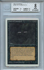 MTG Unlimited Word of Command NM/MT BGS 8.0 Card Magic the Gathering WOTC 0053