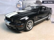 1/24 Franklin Mint Black 2007 Shelby Mustang GT 500 Signed Autographed Shelby