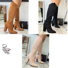 Scarpe Donna Stivali alti donna tacco alto stivali a punta modello Camperos MODA