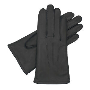 Women's Warm Lined Leather Glove - Black - Multiple Sizes