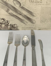 TOWLE OLD LACE STERLING FLATWARE SET 24 Piece 4 settings No Monograms 914 grams