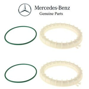 For Mercedes W164 GL320 Pair Set of 2 Fuel Pump Assembly Lock Ring Kit Genuine