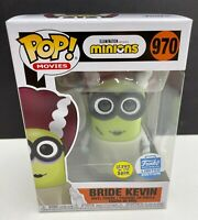 Funko Pop! Bride Kevin Minions #970 GITD Shop Exclusive Funkoween Glows In Hand
