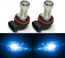 LED 80W H11 Blue 10000K Two Bulbs Head Light High Beam Replacement Show Use