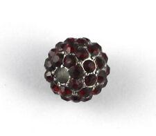 10PCS Dark Red Hip-Hop Rhinestone Beads 12x10mm #20621