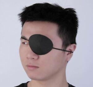 Medical Concave Single Eye Patch Groove Washable Eyeshades Blinder Black Unisex